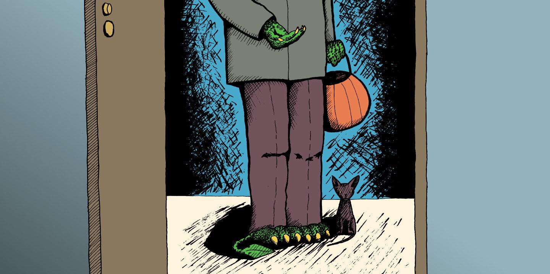 WIP Illustration : Monster Trick or Treat